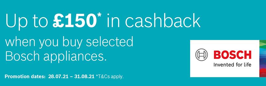 Bosch Up to £150 Cashback