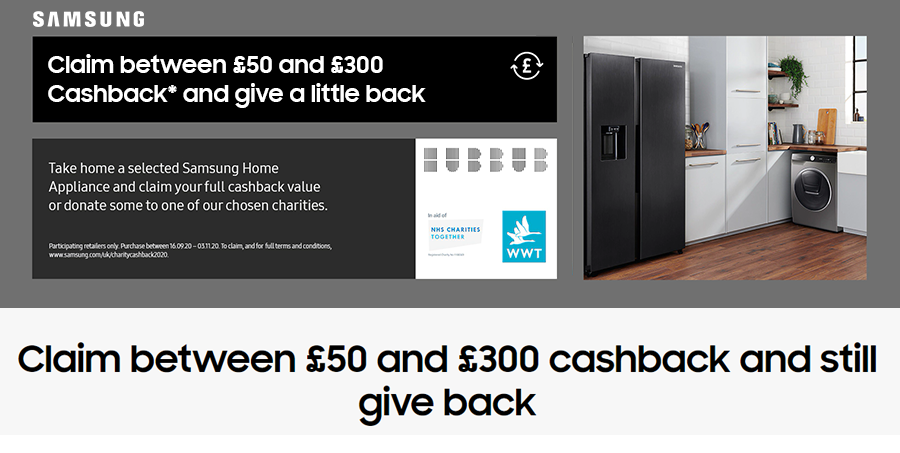 Samsung Appliance Cashback Offer