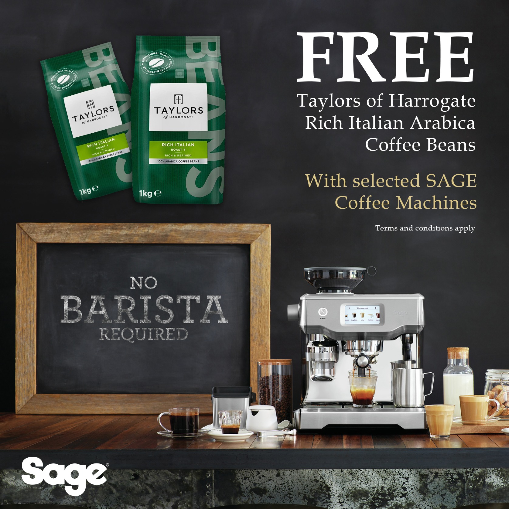 Free coffee promotion