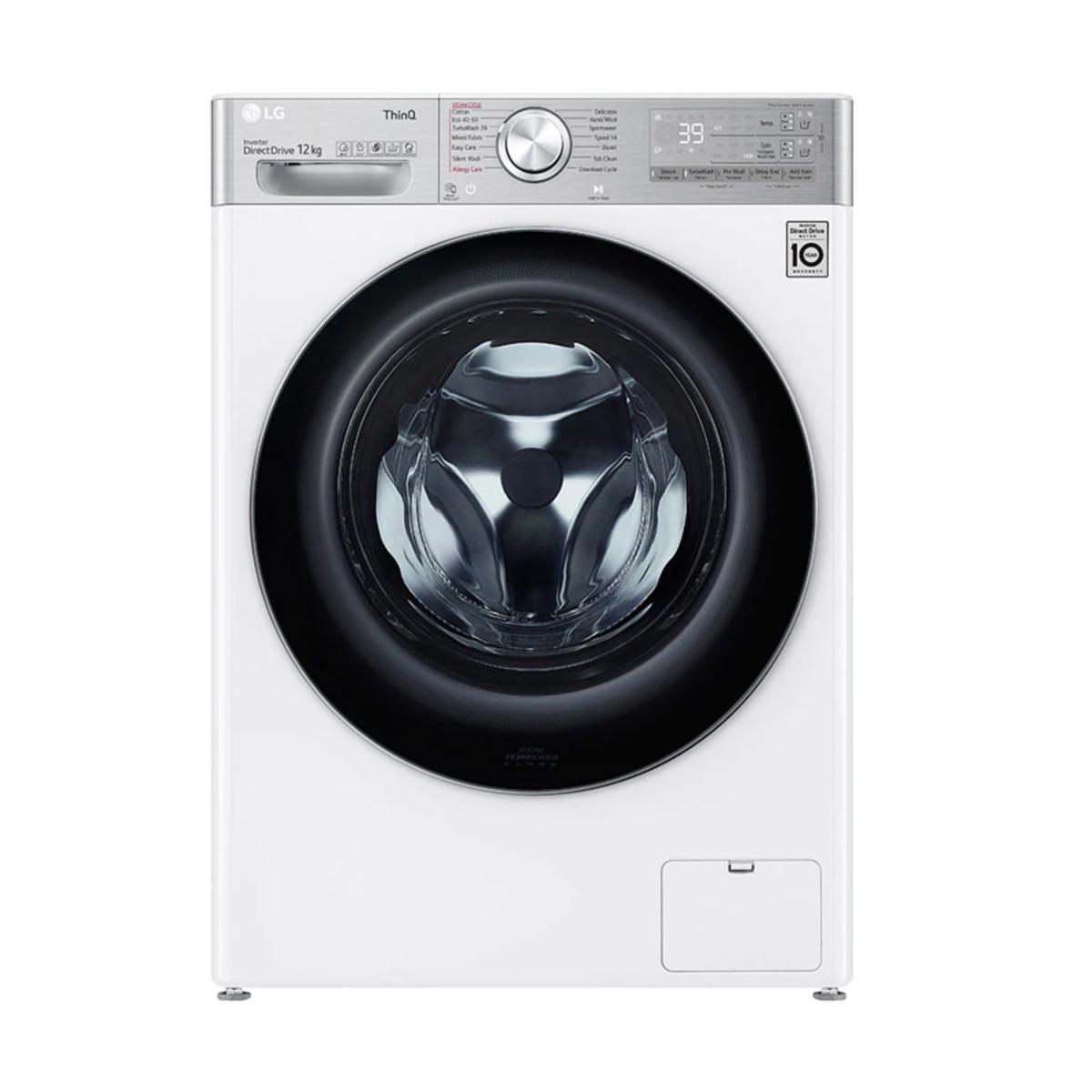LG F4V712WTSE 12kg / 1400 RPM Washing Machine, White