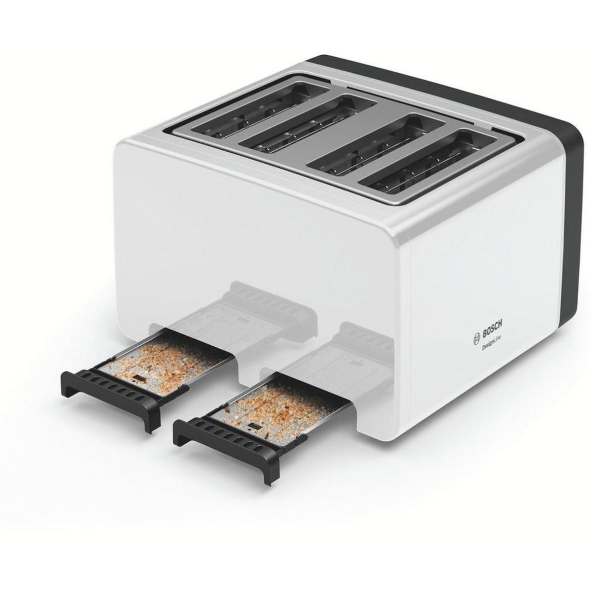Beko TAM4341W 4 Slice Toaster, White