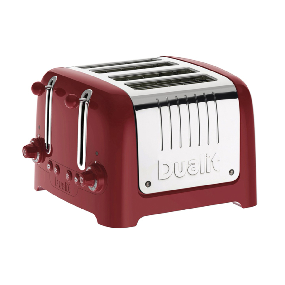 Dualit 46201 4 Slot Lite Toaster, Gloss Red