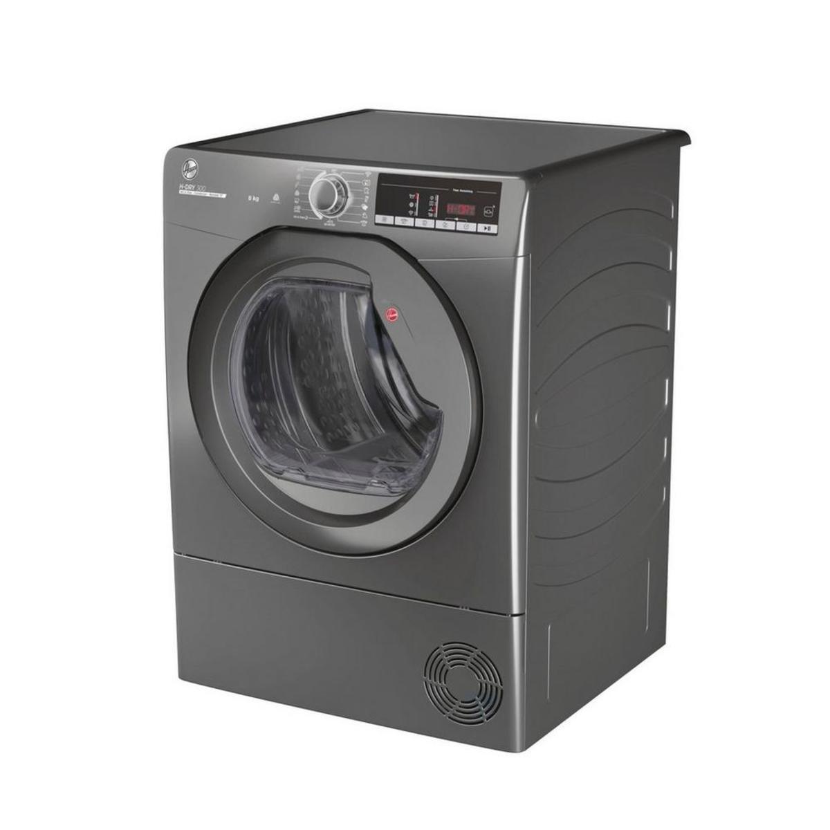 Hoover HLEC8TRGR 8kg Condenser Tumble Dryer in Graphite