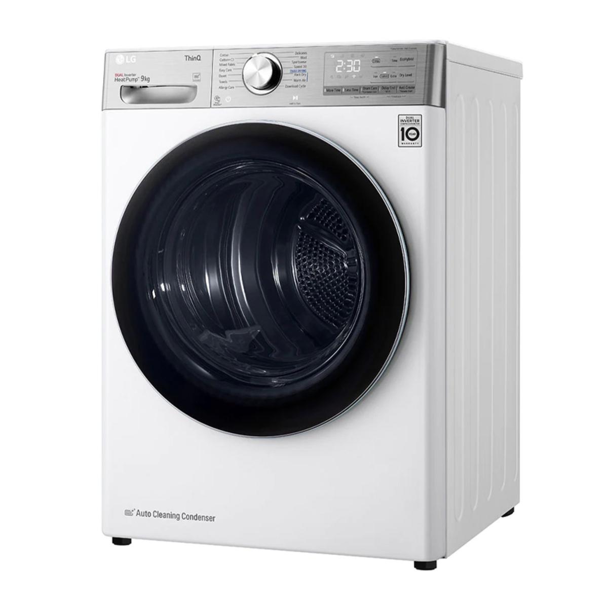 LG FDV1109W 9Kg Eco Hybrid Heat Pump Tumble Dryer, White