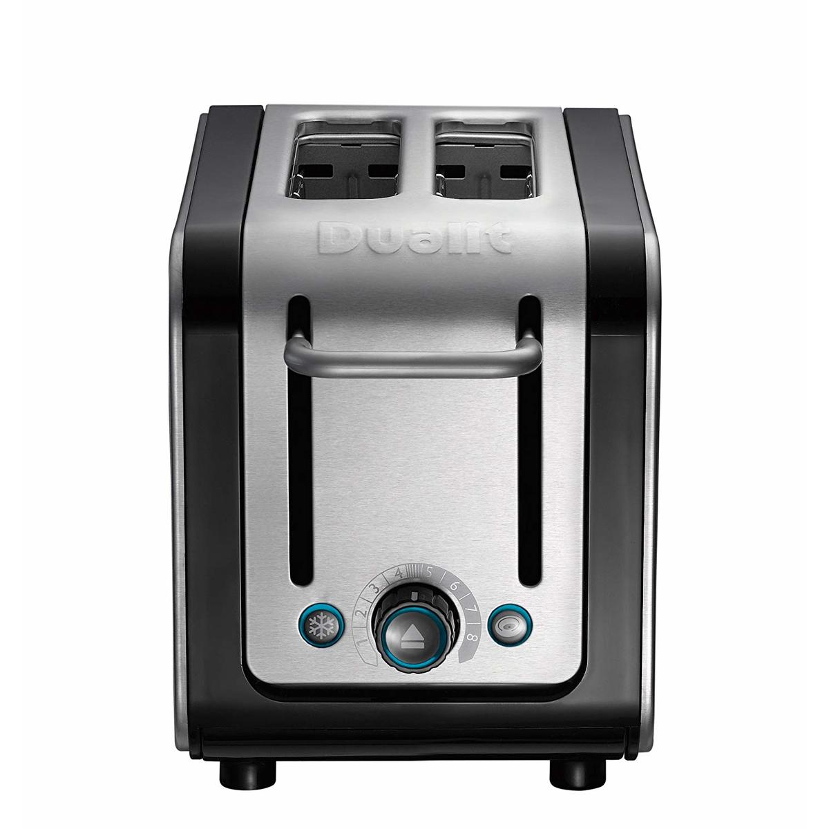 Image of Dualit 26505 ARCHITECT 2 Slot Toaster, Black/Stainless Steel