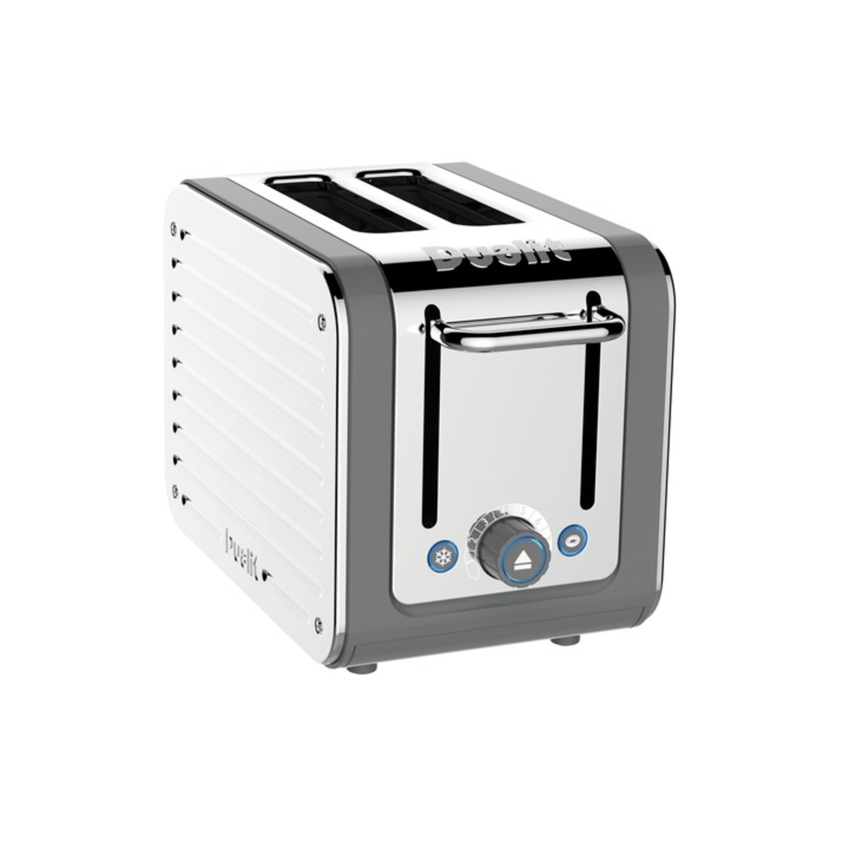 Image of Dualit 26526 ARCHITECT 2 Slot Toaster, Grey/Stainless Steel