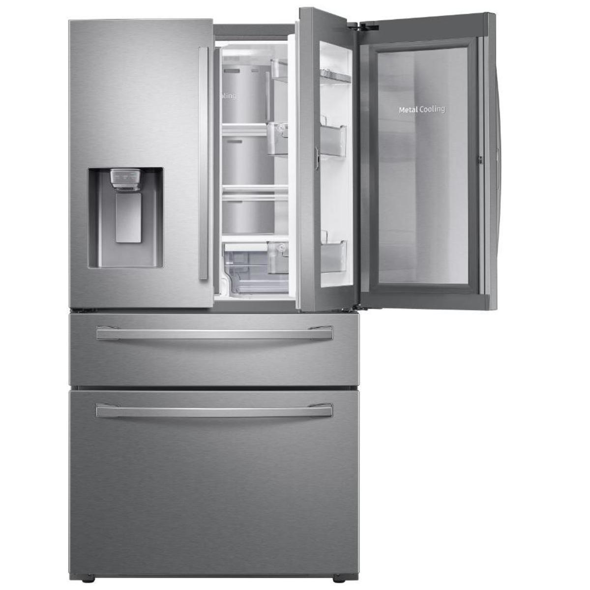 Samsung RF22R7351SR AW4 French Door Fridge Freezer, Real Stainless