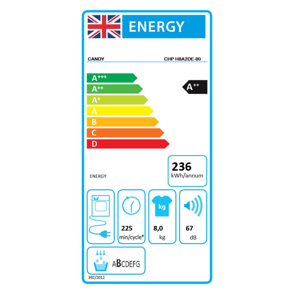 Samsung DV80TA020TE/EU A++ 8kg Heat Pump Tumble Dryer, White