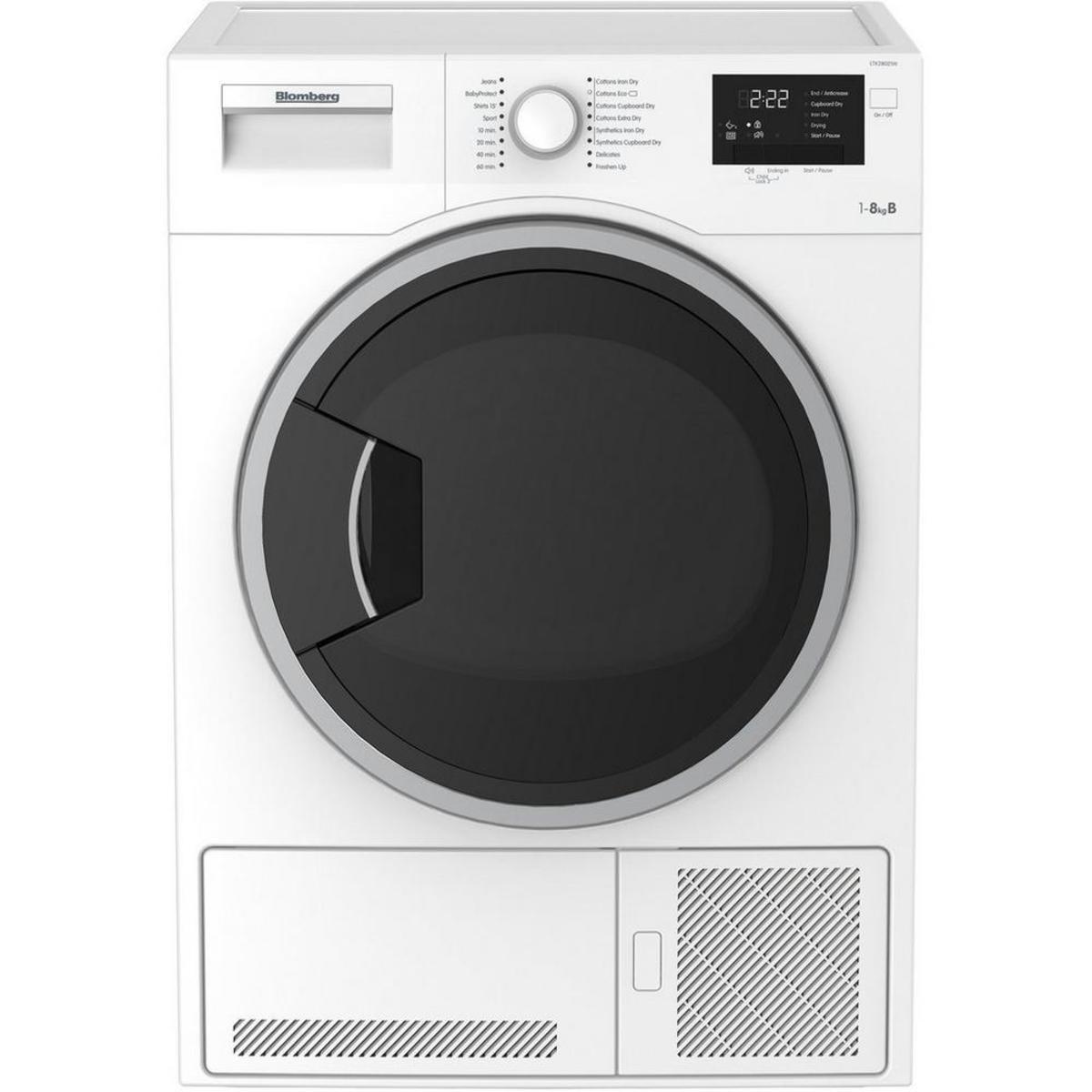 Blomberg LTK28021W B Rated 8kg Condenser Tumble Dryer, White