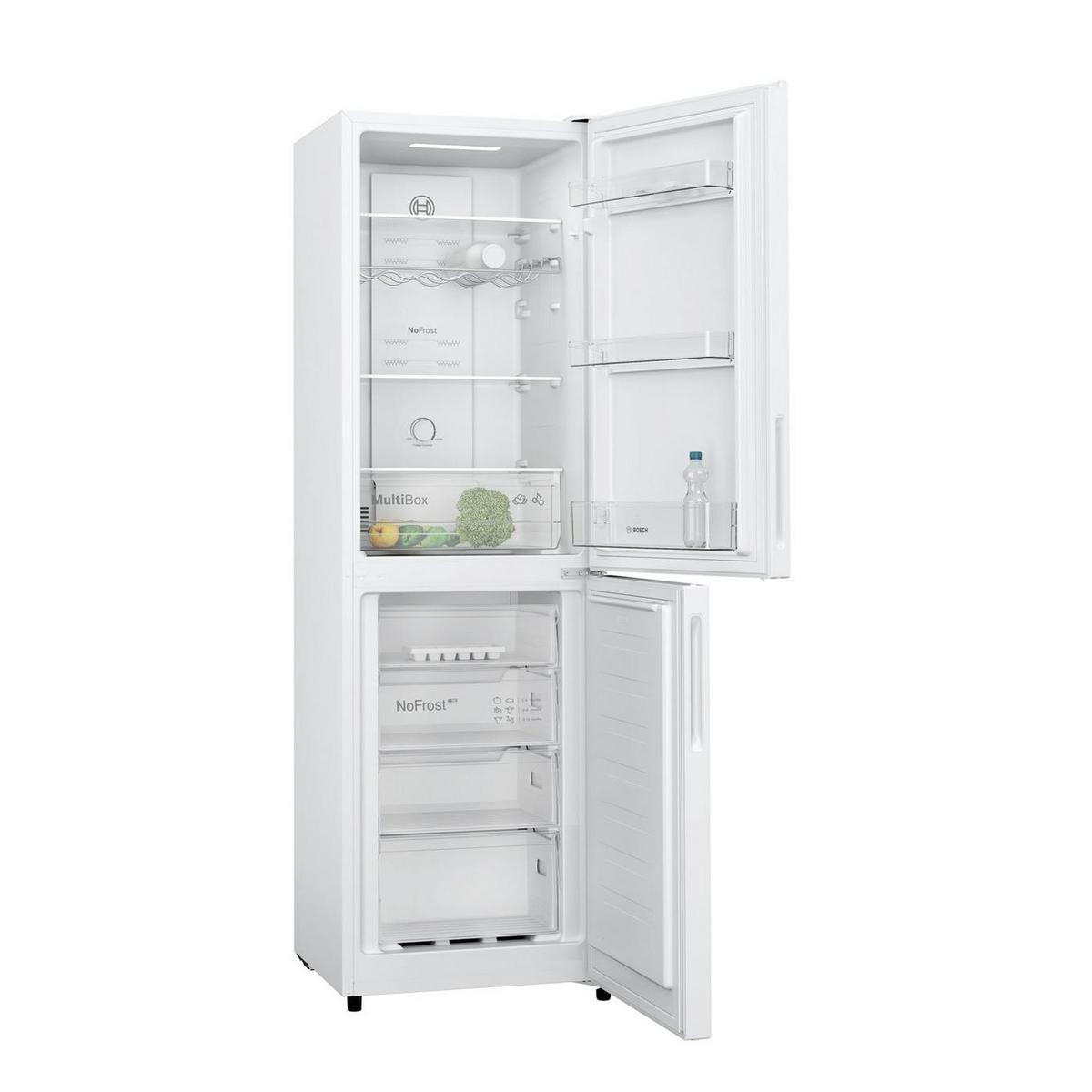 Image of Bosch KGN27NWFAG Freestanding Frost Free Fridge Freezer in White