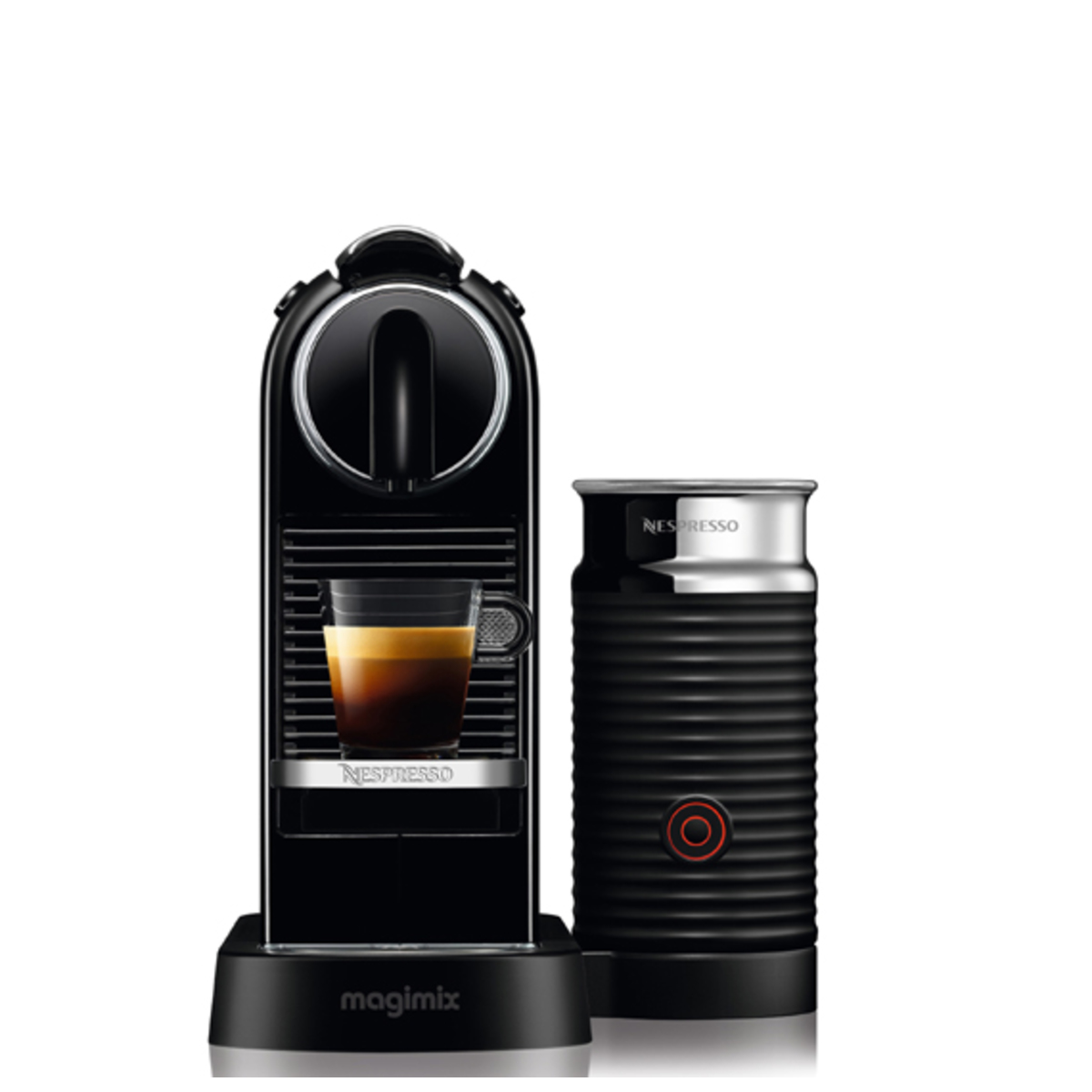 Magimix 11317 BLACK Nespresso CITIZ  Milk Coffee Machine, aeroccino 3, Blk