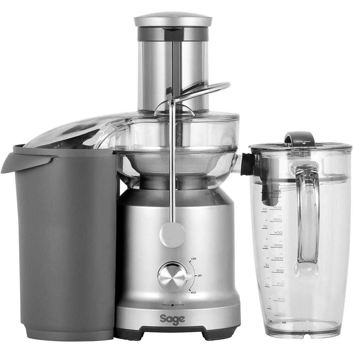 Sage BJE430SIL The Nutri Juicer Cold, Stainless Steel