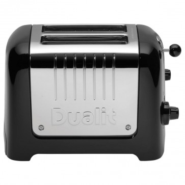 2 Slot Lite Toaster, Black Gloss