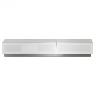"""Contemporary Design Stand for TVs Up To 90"""" in White"""