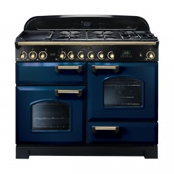 110cm CLASSIC DL DF Fuel Range Cooker, Regal B/Brass