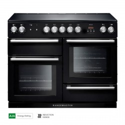 110cm Induction Range Cooker in Black/Chrome Trim