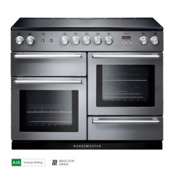 110cm Induction Range Cooker in S Steel/Chrome Trim