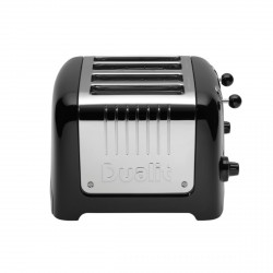 4 Slot Lite Toaster, Black Gloss