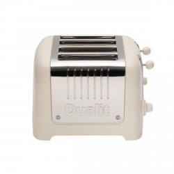 4 Slot Lite Toaster, Canvas White