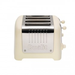 4 Slot Lite Toaster, Gloss Cream
