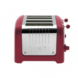 4 Slot Lite Toaster, Gloss Red