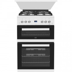 60cm Double Oven Gas Cooker with Glass Lid