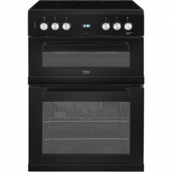 60cm Electric Cooker with Ceramic Hob, Black