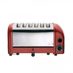 6 Slot Classic Toaster, Red