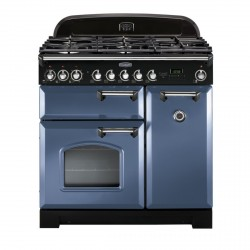 CLASSIC DELUXE 90cm Dual Fuel Cooker, Stone Blue
