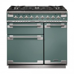 Elise 90 Dual Fuel Cooker, Mineral Green