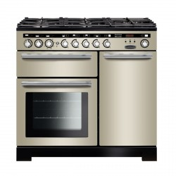 Encore Deluxe 100cm DF Range Cooker, Ivory/Chrome