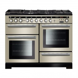 Encore Deluxe 110cm DF Range Cooker, Ivory/Chrome