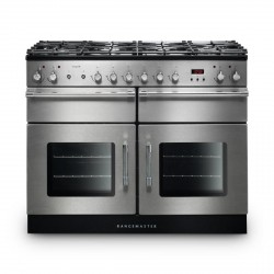 Esprit 110 Dual Fuel Range Cooker, Stainless/Chrome