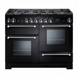 KITCHENER 110cm Gas Range Cooker, Black/Chrome