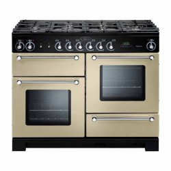 KITCHENER 110cm Gas Range Cooker, Cream/Chrome
