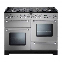 KITCHENER 110cm Gas Range Cooker, S Steel/Chrome