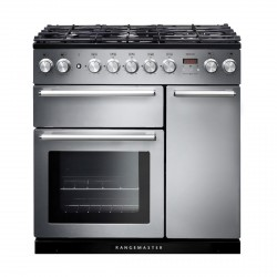 NEXUS 90cm Dual Fuel Range Cooker, Stainless St /Chrome