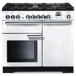 PROFESSIONAL DELUXE 100cm Dual Fual Cooker, White